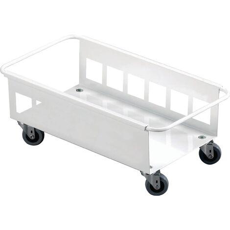 Fahrgestell m.4 Lenkrollen Wertstoffsammler 60l weiß DURABLE