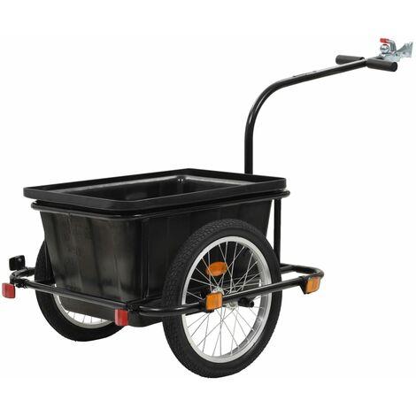 Fahrrad-Lastenanhänger Schwarz 50 L