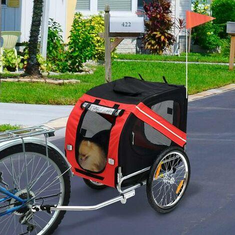 Fahrradanhänger Hundeanhänger Kinderfahrradanhänger Hundetransporter Transportanhänger für Hunde 130x73x90cm