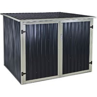 Fahrradgarage aus Metall 4 Fahrräder eBike Garage abschließbar 4 qm Fahrradbox