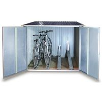 duramax fahrradbox fahrradgarage metall 192x202cm anthrazit