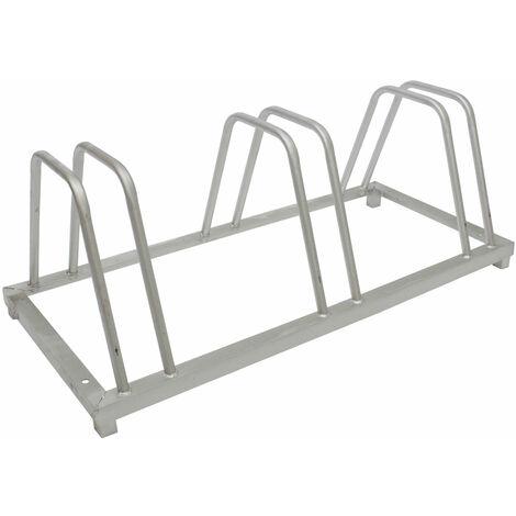 Fahrradständer für 4 Fahrräder Rad Fahrrad Ständer Fahrradhalter Aufstellständer