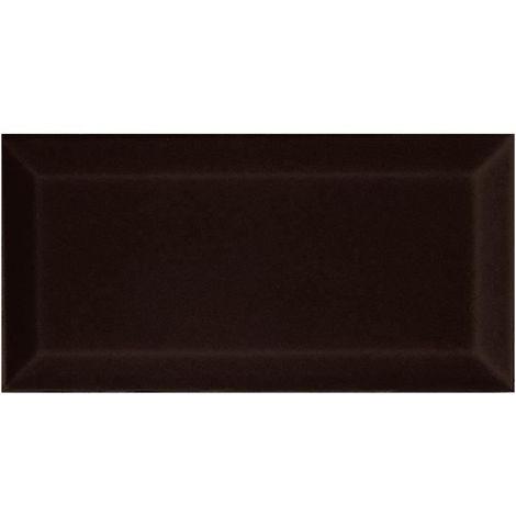 FAIENCE 5 carreaux - 7,5 x 15 cm - Noir metro