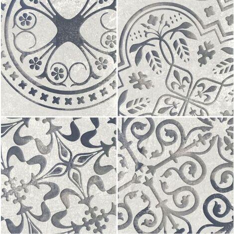 Faience aspect ciment aux motifs aléatoires STONEHAVEN RIFT ASH 15X15 - 0,63 m²