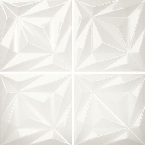 Faïence blanche brillante à relief 3D ELOYA VITTA COAL 15X15 - 0,63 m²