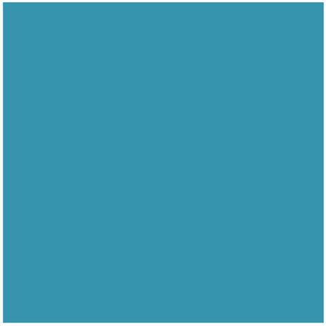 FAIENCE Carrelage mural - Blister de 5 carreaux - 15 x 15 cm - Bleu turquoise