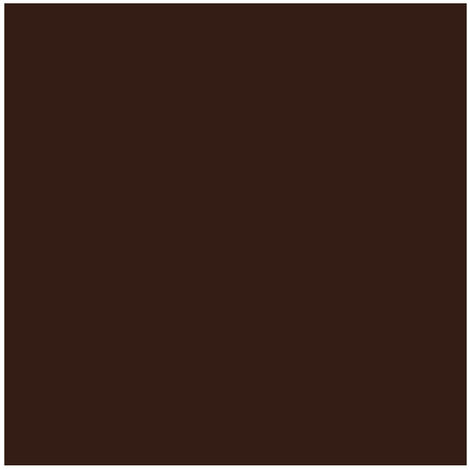 FAIENCE Carrelage mural - Blister de 5 carreaux - 15 x 15 cm - Marron chocolat