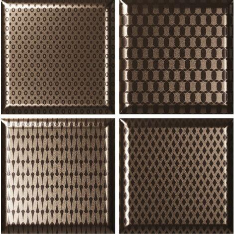 "main image of ""Faïence décorée couleur bronze DINARA NOVEL BRONZE 15x15 - 0,54 m²"""