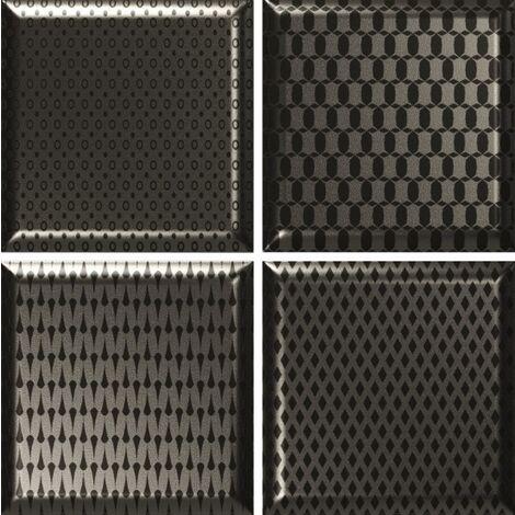 """main image of """"Faïence décorée couleur métal DINARA NOVEL METALIC 15x15 - 0,54 m²"""""""