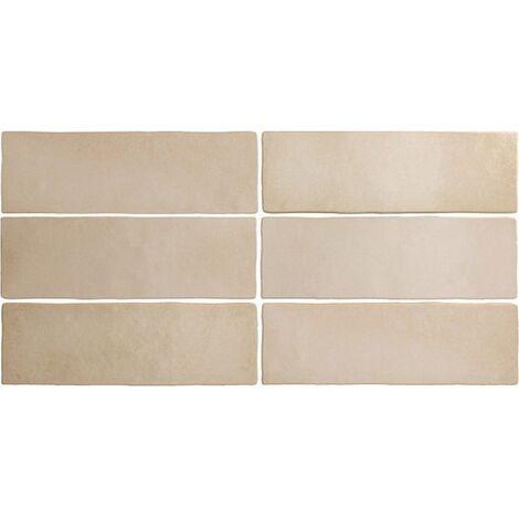 Faience dénuancée beige 6.5x20 cm MAGMA SAHARA 24959 - 0.5m²