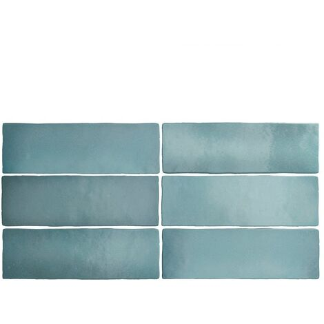 Faience dénuancée bleu clair 6.5x20 cm MAGMA AQUAMARINA 24966 - 0.5m²