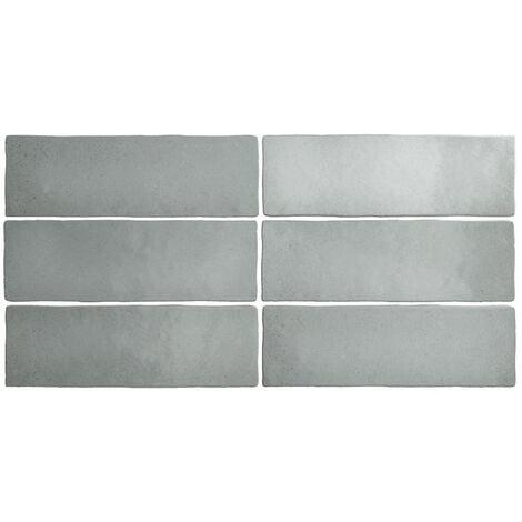 Faience dénuancée gris 6.5x20 cm MAGMA GREY STONE 24960 - 0.5m²