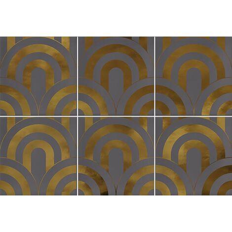 Faïence écaille gris/or 23x33.5 TAKADA MARENGO ORO - 1 unité
