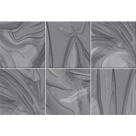 Faïence effet terre mêlée gris 23x33.5 cm MANKAI MARENGO - 1m²