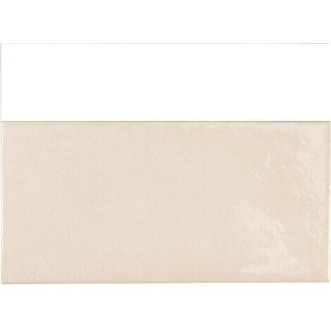Faience effet zellige beige 6.5x13.2 VILLAGE MUSHROOM 25586- 0.5m²