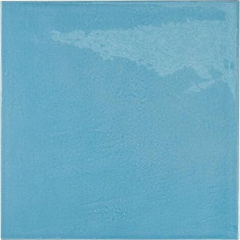 Faience effet zellige bleu azur 13.2x13.2 VILLAGE AZURE BLUE 25625 - 1m²