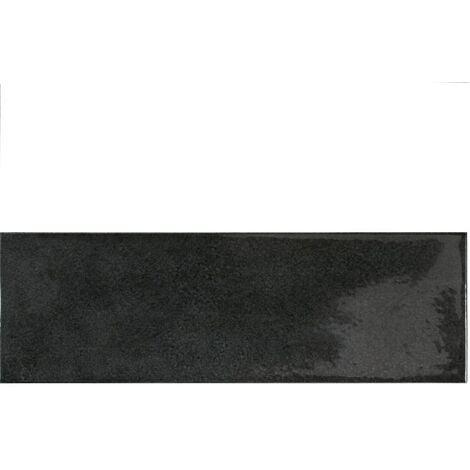 Faience effet zellige noir 6.5x20 VILLAGE BLACK 25641 - 0.5 m²