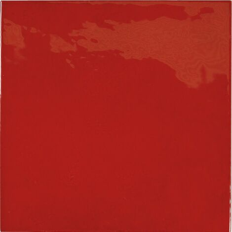 """main image of """"Faience effet zellige rouge 13.2x13.2 VILLAGE VOLCANIC RED 25592 - 1m²"""""""
