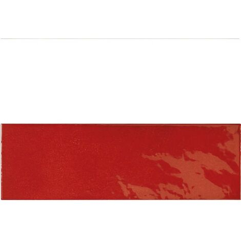 Faience effet zellige rouge 6.5x20 VILLAGE VOLCANIC RED 25633 - 0.5m²