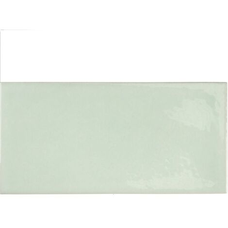 Faience effet zellige vert d'eau 6.5x13.2 VILLAGE MINT 25626 - 0.5 m²