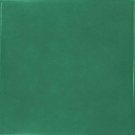 Faience effet zellige vert émeraude 13.2x13.2 VILLAGE ESMERALD GREEN 25595- 1 m²