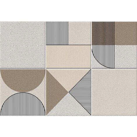 Faïence géométrique beige/marron 23x33.5 NAGO NUEZ - 1m²