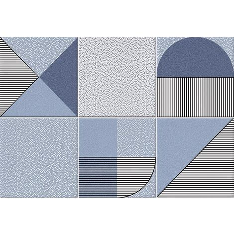 Faïence géométrique bleu marine 23x33.5 cm NAGO INDIGO- 1m²