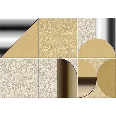 Faïence géométrique caramel 23x33.5 cm NAGO CARAMELO - 1m²