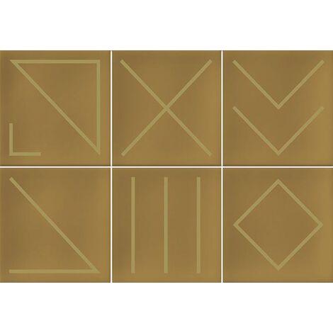 Faïence géométrique caramel/doré 23x33.5 NAGANO CARAMELO - 1m²