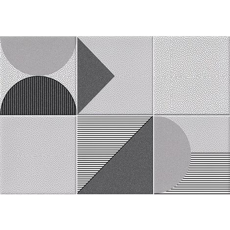 Faïence géométrique grise 23x33.5 cm NAGO MARENGO- 1m²