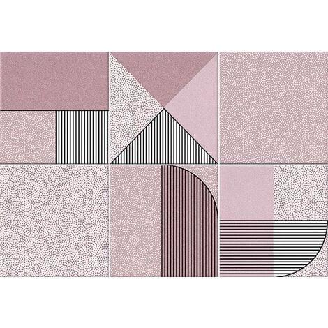 Faïence géométrique rose 23x33.5 cm NAGO MARSALA - 1m²