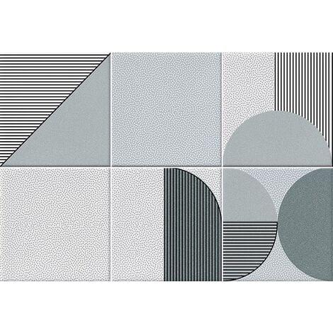Faïence géométrique turquoise 23x33.5 cm NAGO TURQUESA- 1m²