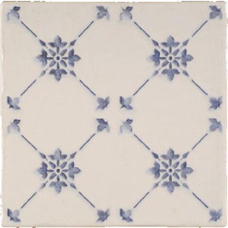 Faience imitation ciment bleu et blanc cassé 20x20 cm ALCAZAR - 1m²