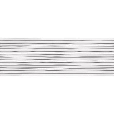 Faience INUIT Black pâte blanche 25x75cm - 1.312m²