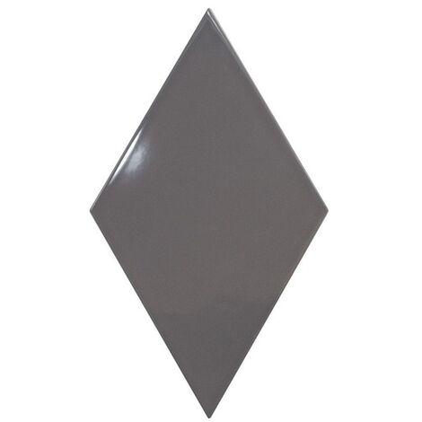Faience losange gris anthracite brillant 15x26cm RHOMBUS WALL DARK GREY 22751 - 1m²