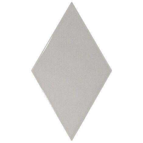 Faience losange gris clair brillant 15x26cm RHOMBUS WALL LIGHT GREY 22750 - 1m²