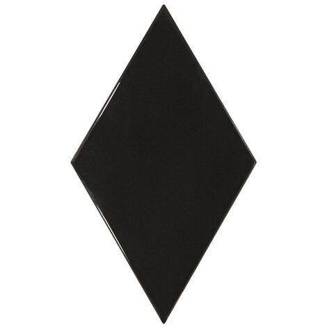 Faience losange noir brillant 15x26cm RHOMBUS WALL BLACK 22748 - 1m²