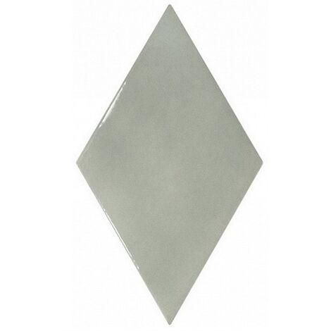 Faience losange vert de gris brillant 15x26cm RHOMBUS WALL MIST GREEN 22753 - 1m²