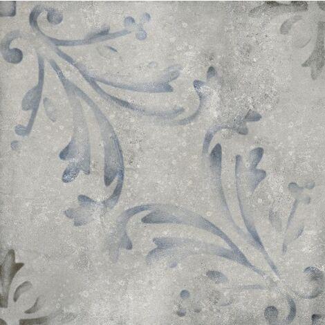 Faïence mélangée unie et carreau de ciment vieilli KELSO 25x25 - 0,94 m²