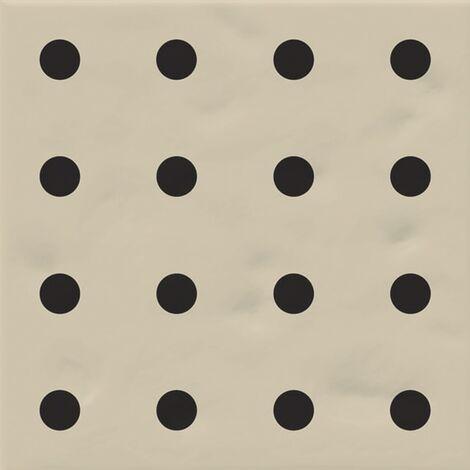 Faïence murale beige et noire CHINTZ BEIGE 20X20- 1 m²