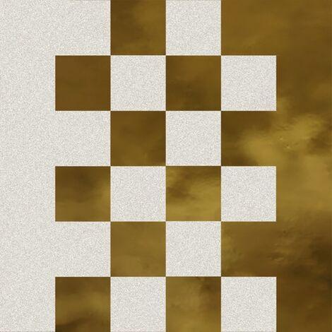 Faïence murale blanche et dorée SEDILLOT BLANC OR20X20- Unité