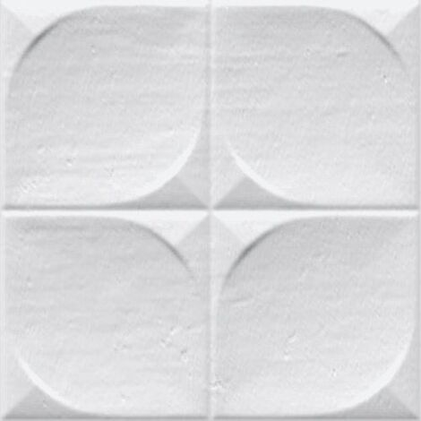 Faience murale brillante blanche SINDHI 13x13cm - 0.676 m²