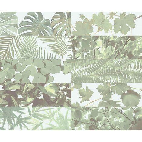 Faience murale brillante décor mural TROPICAL MIX JUNGLE 10x30 cm - 1,02m²