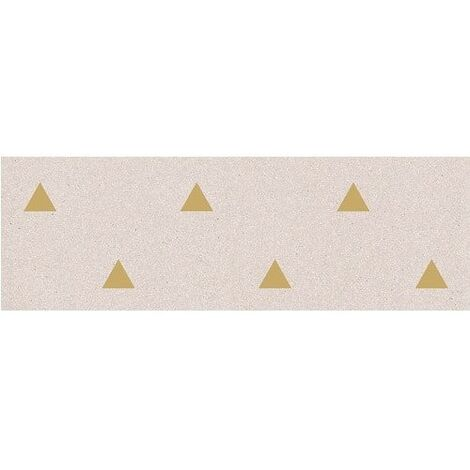 Faience murale creme motif triangle or 32x99cm BARDOT-R Crema - 1