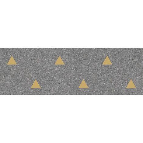 Faience murale graphite motif triangle or 32x99cm BARDOT-R Grafito - 1.27m²