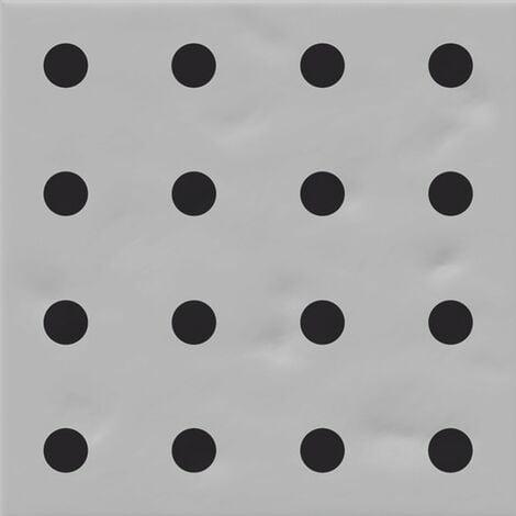 Faïence murale grise et noire CHINTZ GRIS 20X20- 1 m²