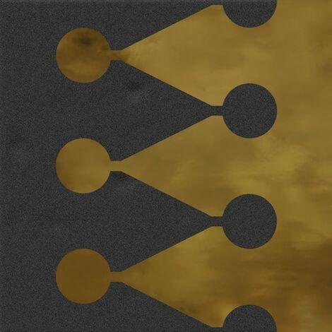 Faïence murale noir et dorée BERTHIER GRAFITO OR20X20- Unité