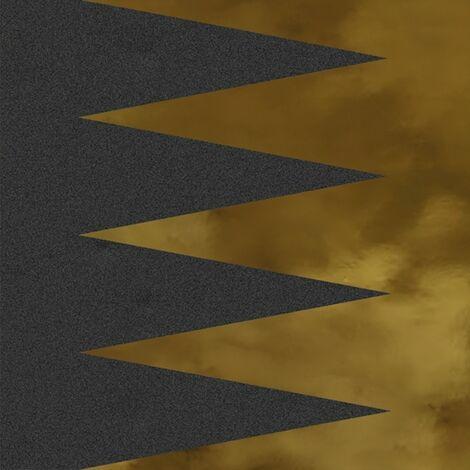 Faïence murale noir et dorée GOURGOURAN GRAFITO OR20X20- Unité