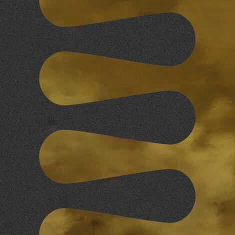Faïence murale noir et dorée MERINOS GRAFITO OR20X20- Unité