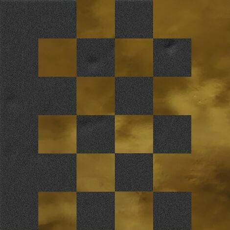 Faïence murale noir et dorée SEDILLOT GRAFITO OR20X20- Unité